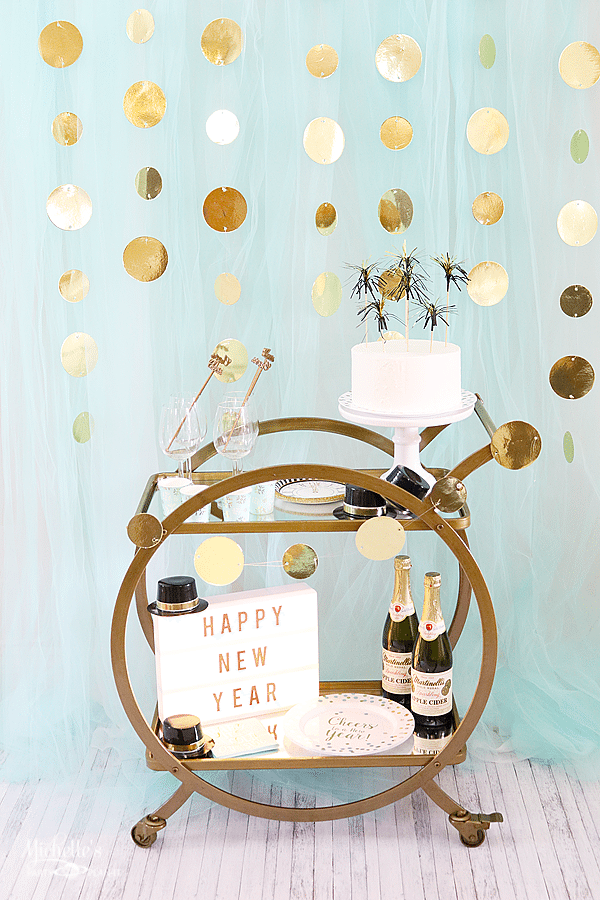 Kick off 2017 with a New Year's Eve Bar Cart
