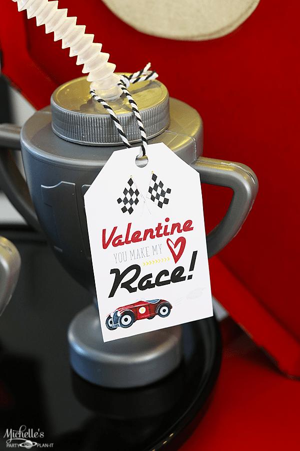 You Make My Heart Race Valentine Trophy Drink Holders