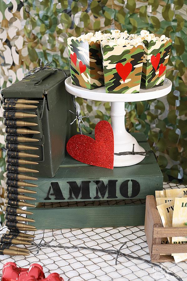 Love is a Battlefield Popcorn Box Tutorial
