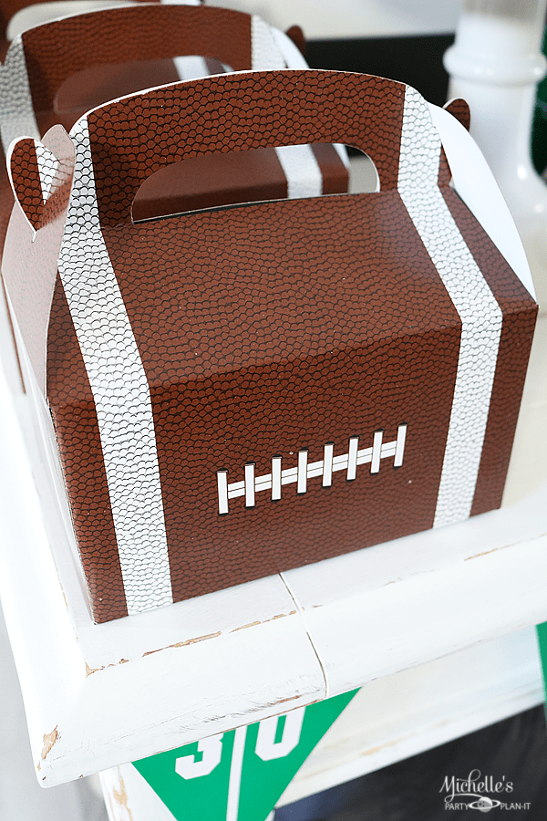 Football Snack Table Party Favors