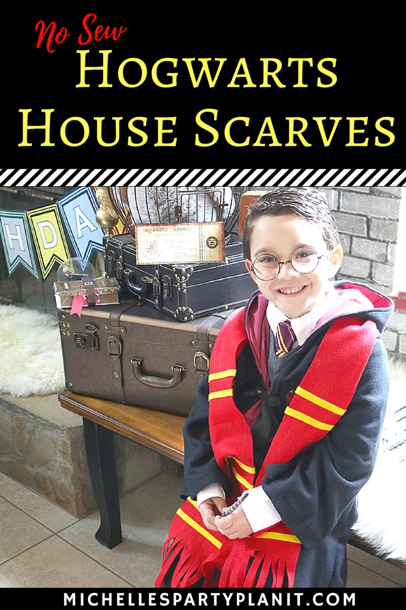 DIY No Sew Harry Potter Scarves