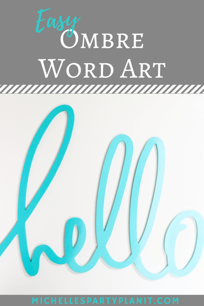 Easy Ombre Word Art with DecoArt