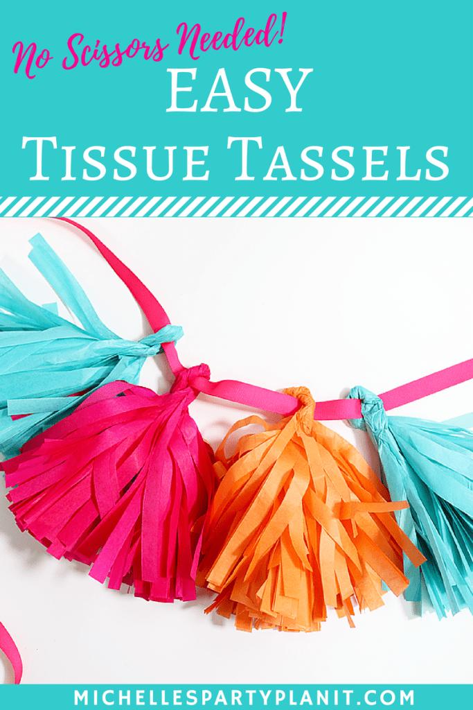 Easy Tissue Tassel Garland Tutorial – No Scissors Needed!