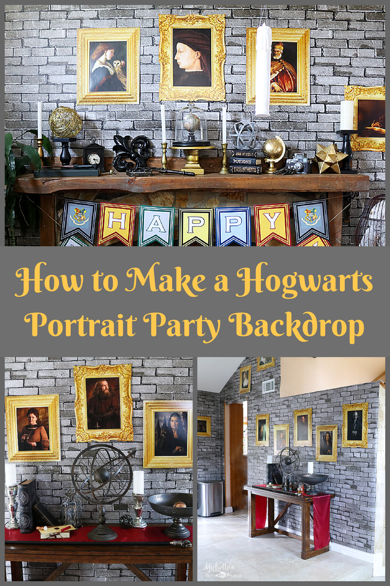 how to make a hogwarts portrait party backdrop