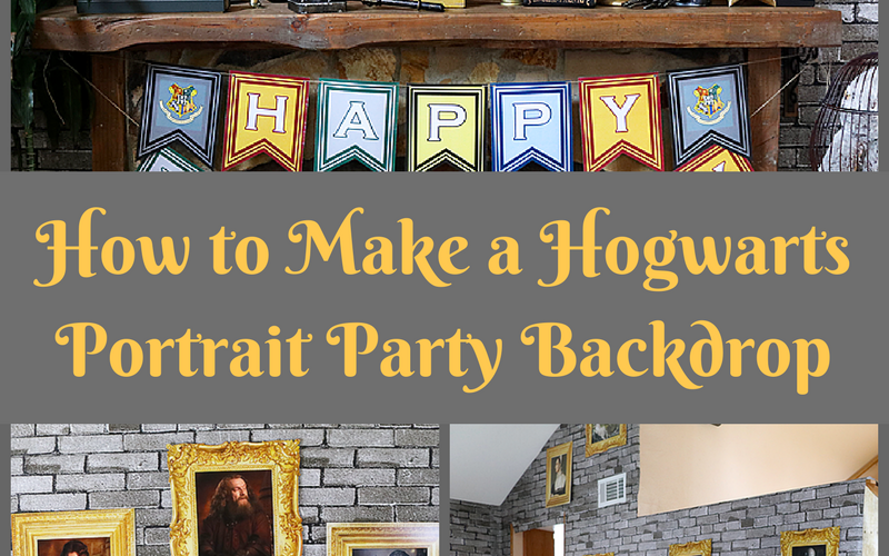 Hogwarts Inspired DIY Portrait Backdrop – Whip It Up Wednesday