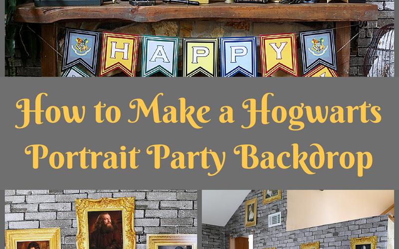 Hogwarts Inspired DIY Portrait Backdrop – Whip It Up Wednesday