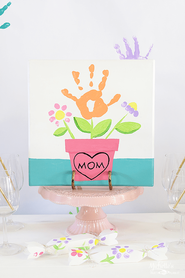 Mommy and Me Painting Party Centerpiece