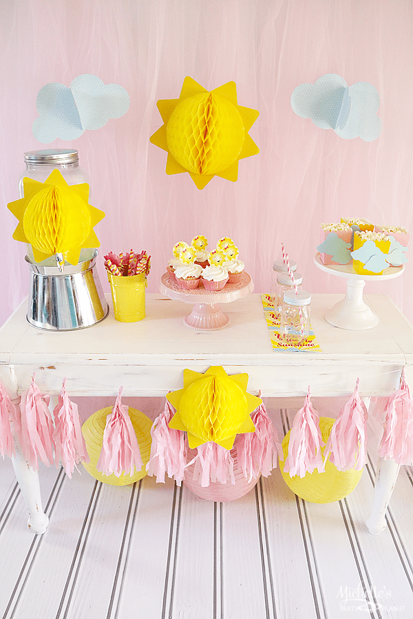 You Are My Sunshine Playdate Table set Up