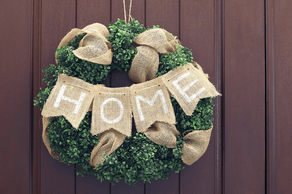 DIY Boxwood HOME Wreath tutorial