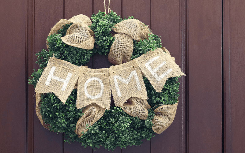 Diy boxwood home wreath small