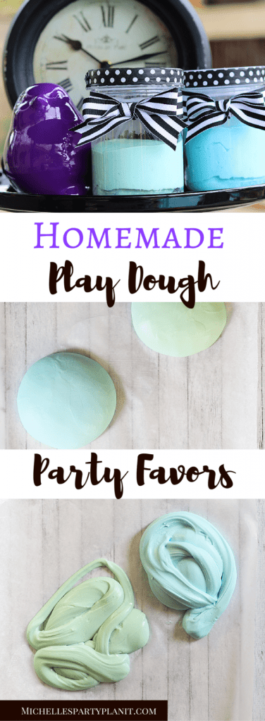 Homemade Play dough Party Favors