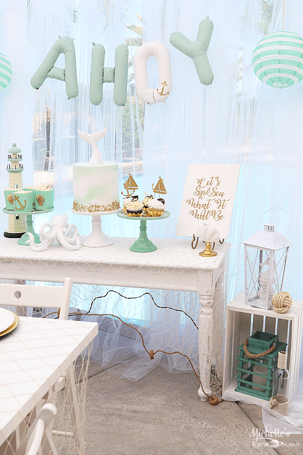 Sip & Sea Gender Reveal Party Decor