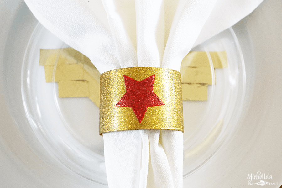 Wonder Woman Napkin Rings