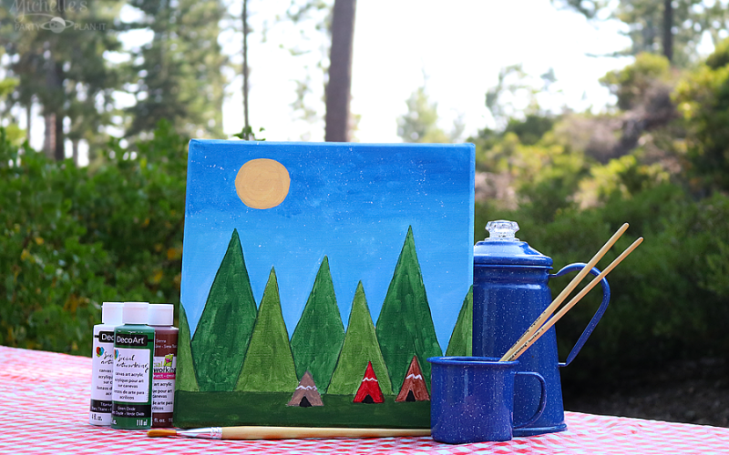 Let's Camp Out with Social Artworking! | Camp Activity Ideas
