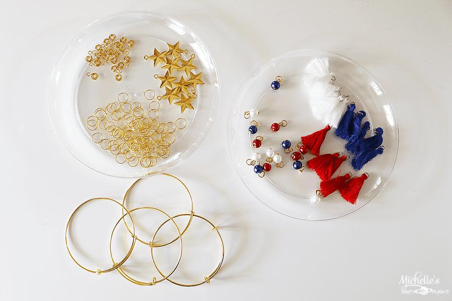 Wonder Woman Charm Bracelet Supplies