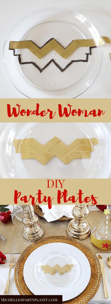 Wonder Woman Plates