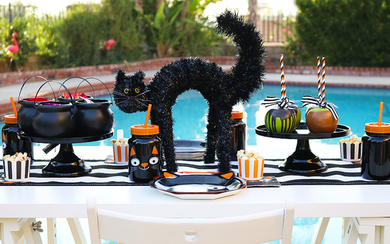 Simple Black Cat Halloween Party For Kids