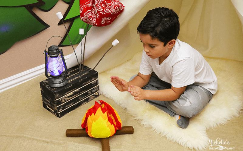Diy felt campfire