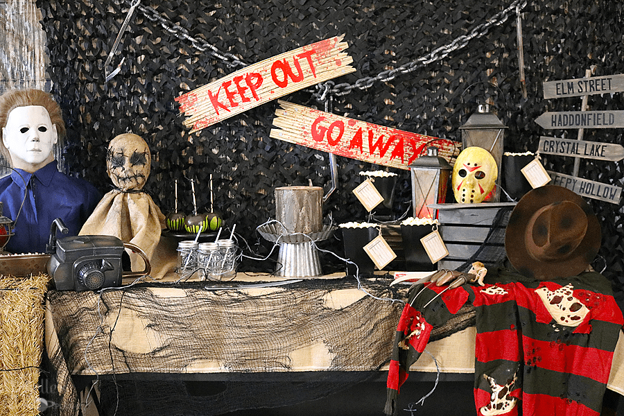 Scary Movie Halloween Party Table