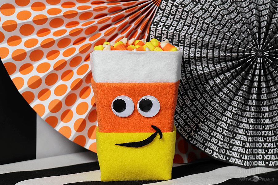 Easy Candy Corn Popcorn Box Idea