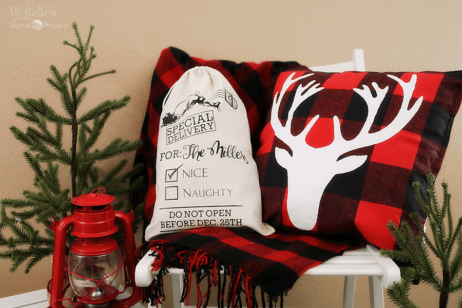 DIY Personalized Santa Sack - Cricut Crafts by Michelle Stewart
