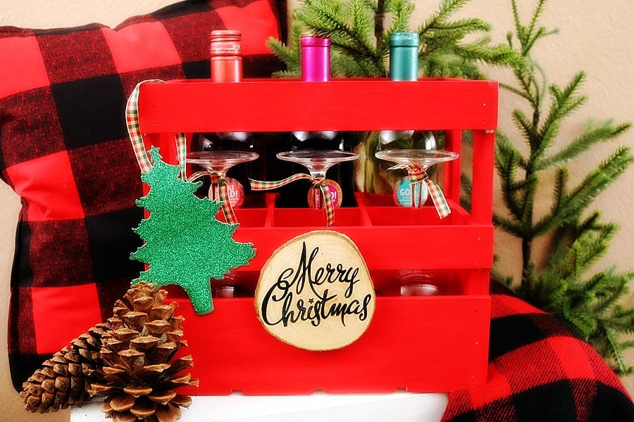DIY Holiday Wine Crate | Gift Ideas