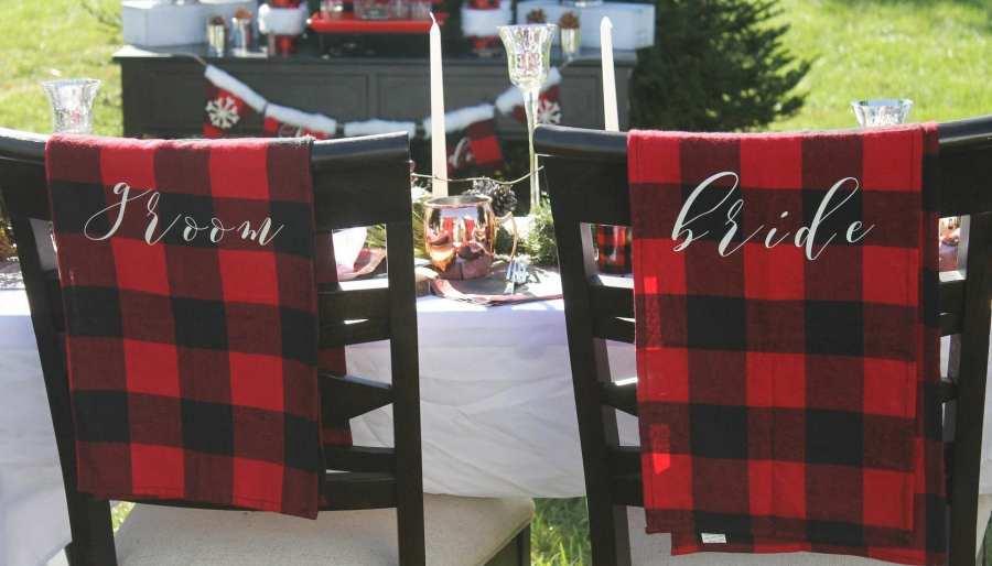 Buffalo Plaid Winter Wedding