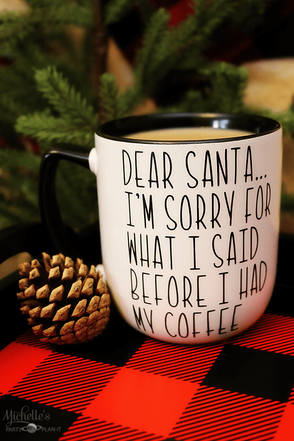 Dear Santa Christmas Mug - Christmas Cricut Crafts by Michelle Stewart