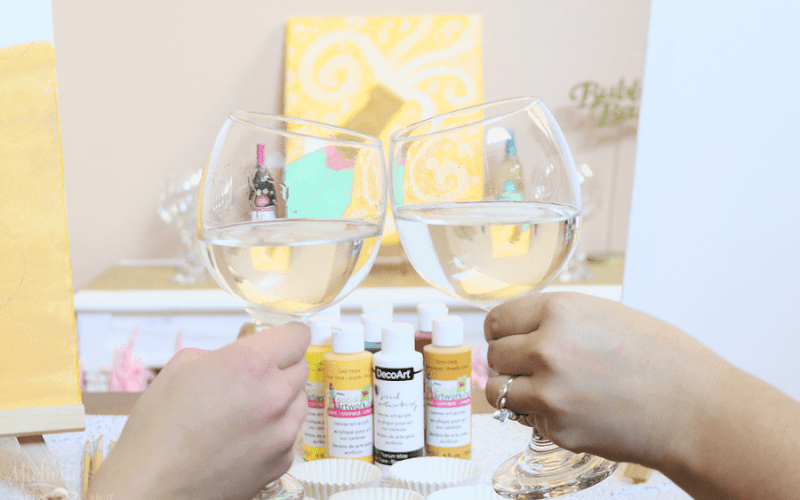 Celebrate the New Year with a Paint and Sip Craft Night