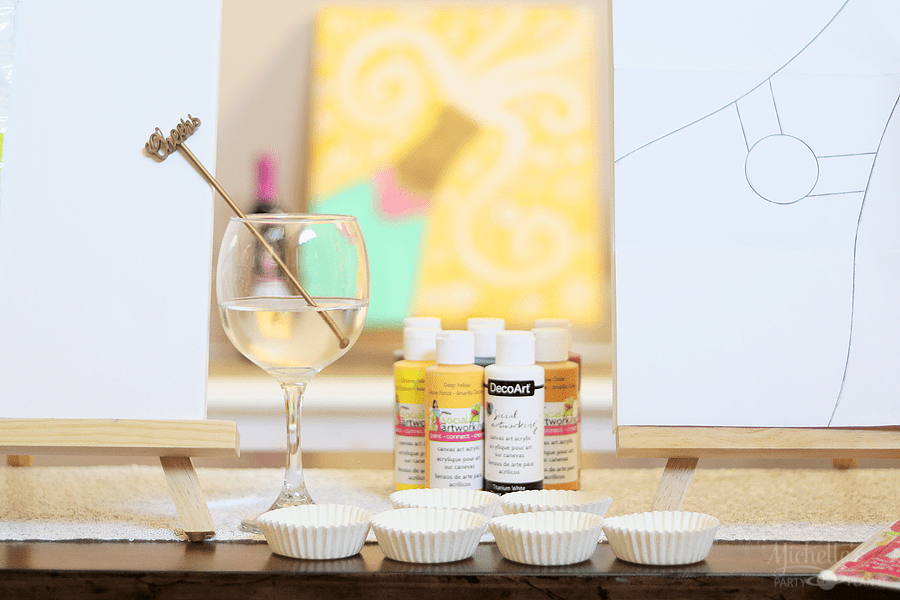 NYE Paint and Sip Craft Night by Michelle Stewart