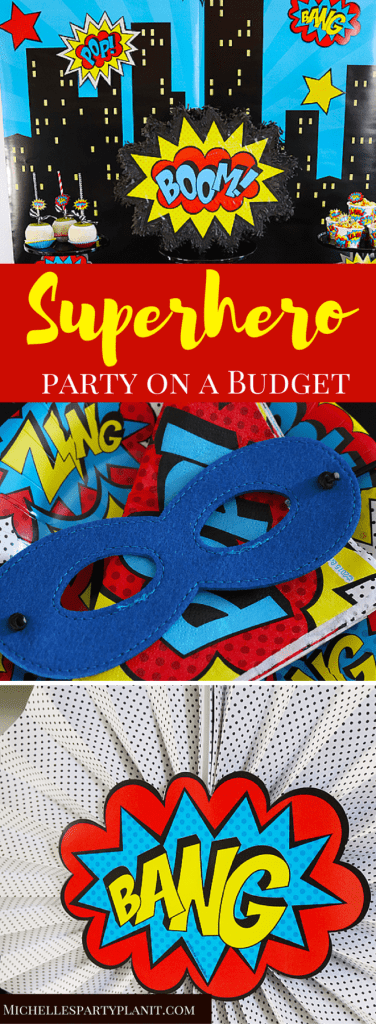 Budget Friendly Superhero Party with Hobby Lobby