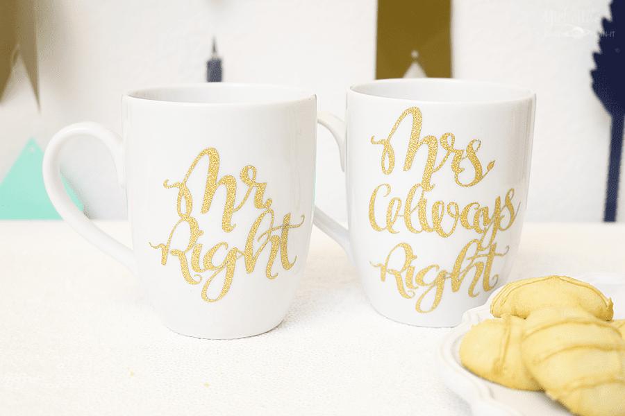 Mr and Mrs Always Right DIY Mug set