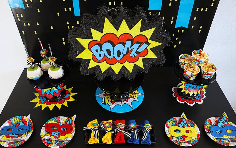 Budget Friendly Superhero Party Ideas with Hobby Lobby