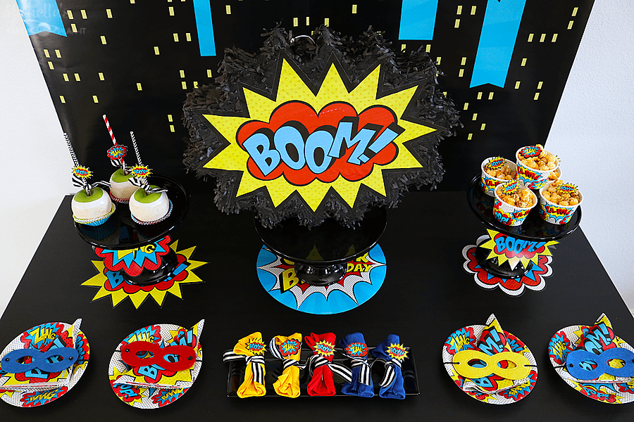 Budget Friendly Superhero Party Table