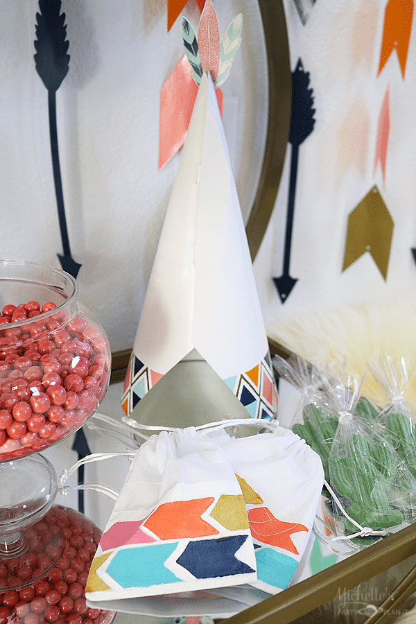 Paper Tee Pee and Party Favor Bags