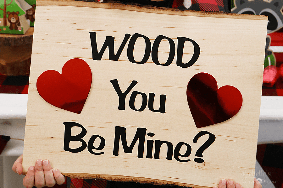 Wood You Be Mine Valentine S Day Sign Cricut Craft Lightning