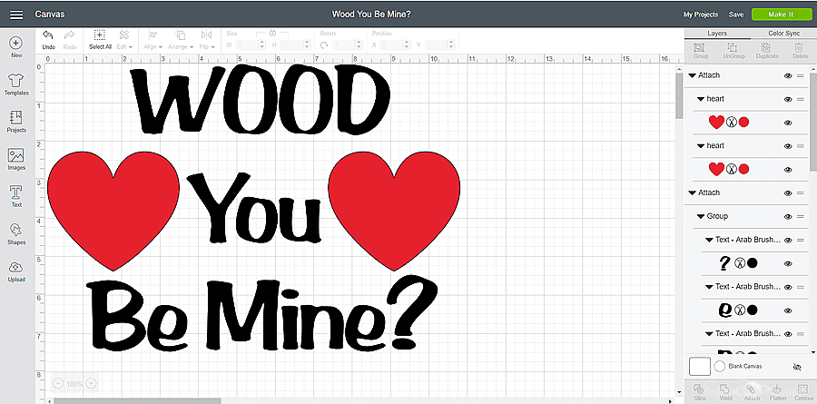 Wood U Be Mine design