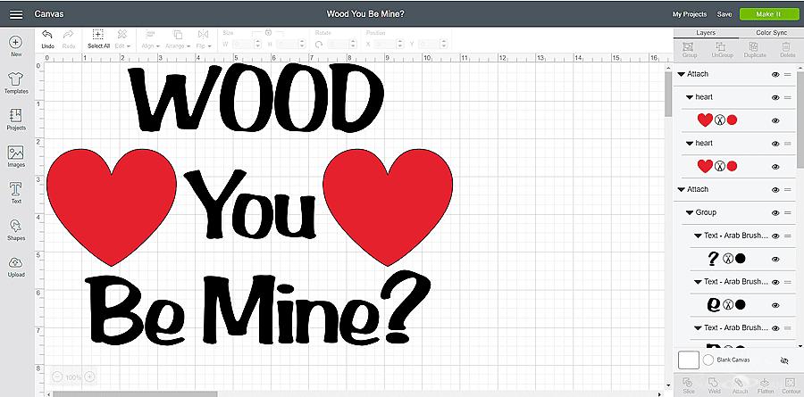 Wood U Be Mine design