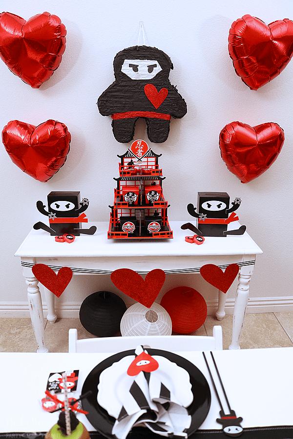 Ninja Valentine's Day Party