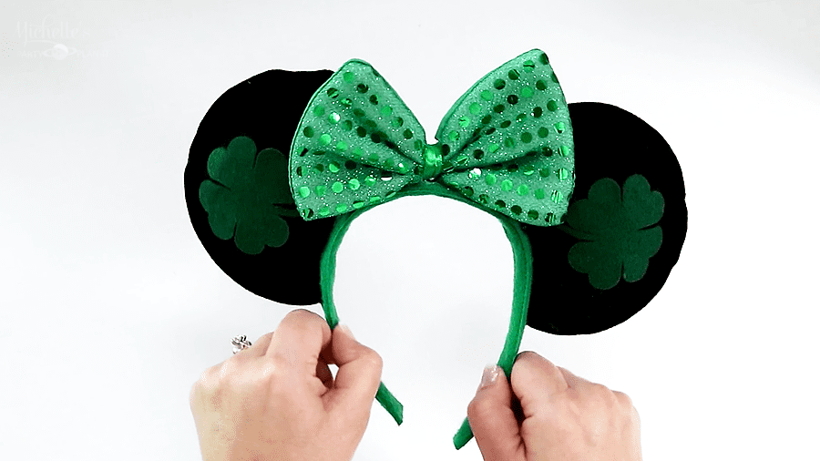 Budget Friendly No Sew Diy Minnie Mouse Ears Michelle S Party Plan It