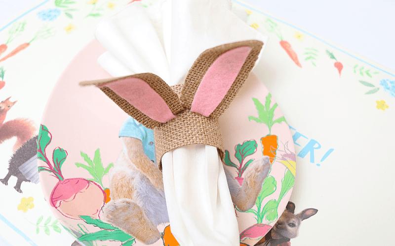 Bunny ear napkin rings
