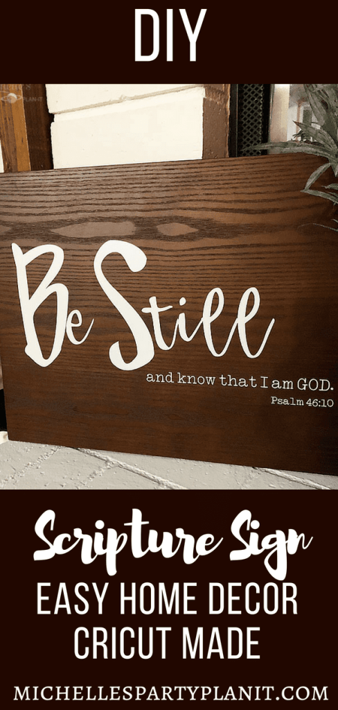 DIY Scripture Sign - Easy Home Decor #cricutmade