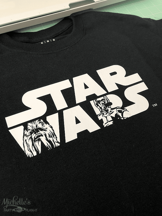 DIY Star Wars Shirt Cricut EasyPress Mat
