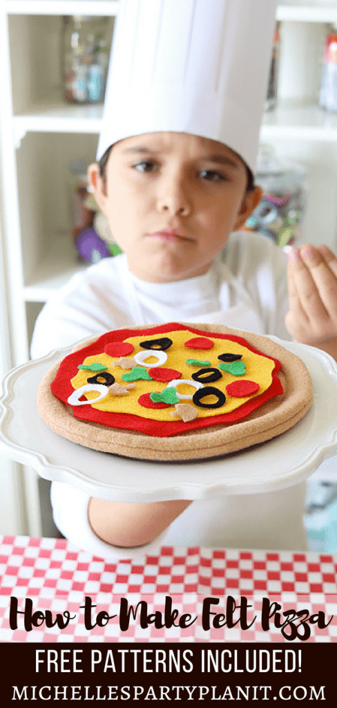 How to Make Felt Pizza Tutorial - Free Pattern Included