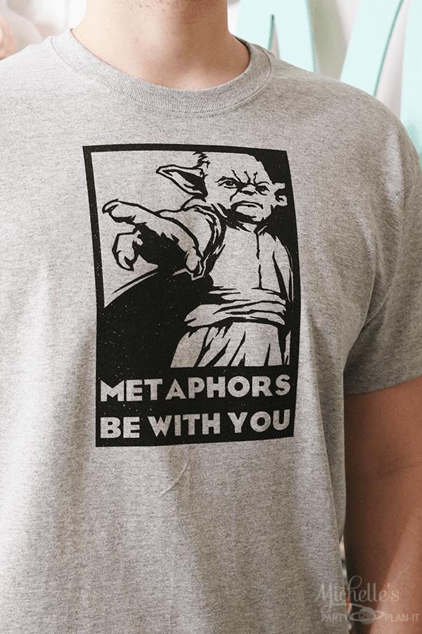 Yoda Tshirt - Metaphors Be With You
