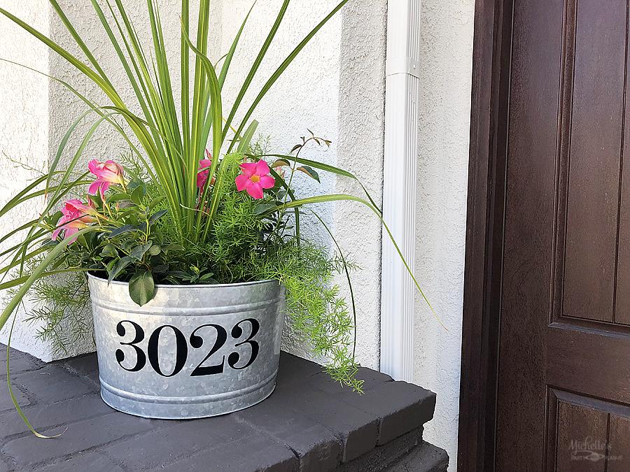 DIY Address Planter Tutorial