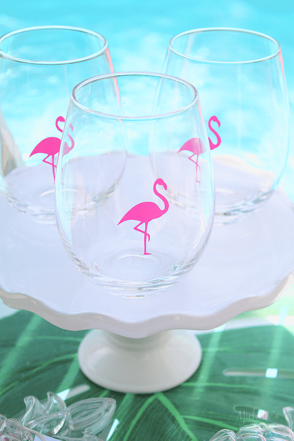 End of Summer Flamingo Party Glasses