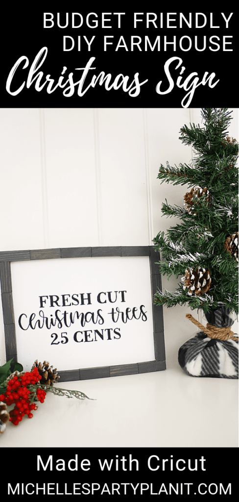 Budget Friendly DIY Farmhouse Christmas Sign
