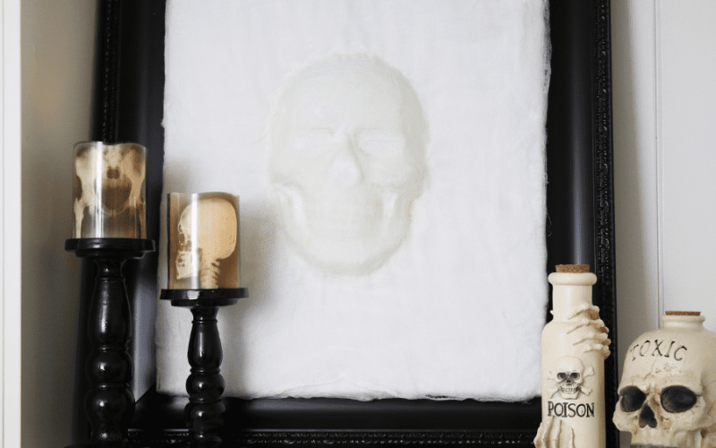 Diy 3d skull wall art
