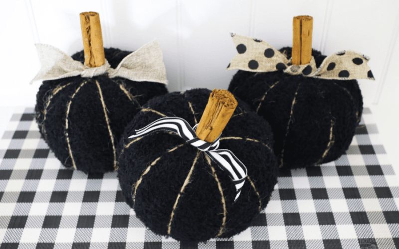 Diy fabric pumpkins 1